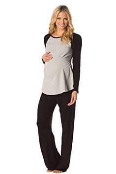 Majamas Pastime Maternity Nursing Lounge Pajama Set - Black/Grey - Small Majamas http://www.amazon.com/dp/B014OYNPAE/ref=cm_sw_r_pi_dp_cRwhwb0YQ069X