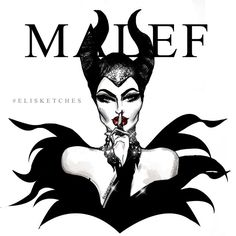 MALEFICENT - Villains Collection, Printable Art by EliSketches on Etsy