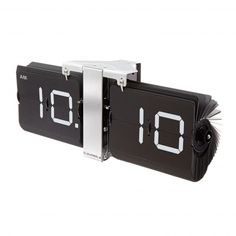 Cloudnola Flipping Out can upgrade your home space much better than any clocks. This sleek clock is made from modern materials with retro designs. Flip Out, Telling Time, Modern Materials, Material Design, Worlds Of Fun, Flip Clock, Black Silver, Furniture Design, Chrome
