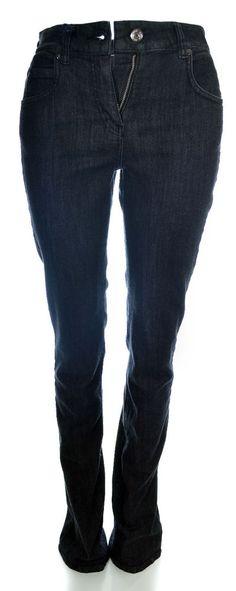 Jil Sander Navy Womens Straight Leg Jeans Size 26 in Black NWT $300 JDD282T #JilSander #StraightLeg