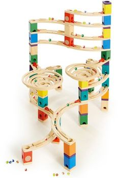 Hape Quadrilla Wooden Marble Run Construction - Cyclone - Quality Time Playing Together Wooden Safe Play - Smart Play for Smart Families Wooden Marble Run, Marble Race, Cardboard Toys, Wooden Toys, Drones, Lego Kai, Hape Toys, Build A Playhouse, Coding For Kids
