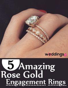 5 Amazing Rose Gold Engagement Ring Ideas