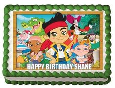 JAKE AND THE NEVERLAND PIRATES Edible Image Cake and cupcake topper