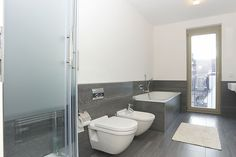 Yes -  a Bathroom with a walk-out balcony! This penthouse apartment is definitely committed to its luxury label.