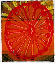 "(c) Barbara Gilhooly  Play #3  acrylic, ink on paper  6"" x 5"""