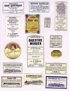 vintage pharmaceutical labels | Vintage Pharmacy Adhesive Labels