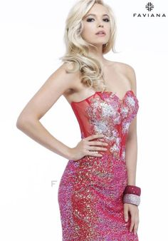 Faviana Dress S7405 at Peaches Boutique