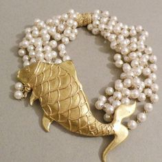 Giant Fish Torsade Necklace