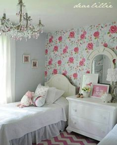 Lovely romantic cottage styling, except floor/rug.