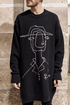 Jacquard Long Sweater - Yohji Yamamoto, FW16
