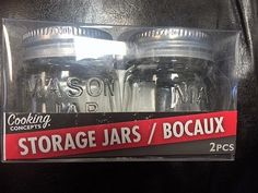 ARTS & CRAFTS & MORE   (2)  MINI  Mason Jars with lids           NEW IN PACK