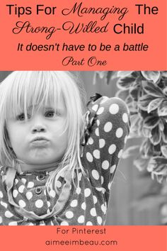 It Doesn't Have to be a Battle: Tips for Managing the Strong-Willed Child Part One | A Work of Grace Aimee Imbeau