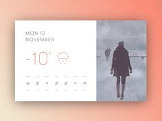 Third screen in my cinemagraph weather app series