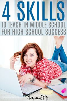 Teach these 4 skills to your homeschool student in middle school to prepare them for success in high school. Homeschool High School, Homeschool Curriculum, School Classroom, Middle School Boys, How To Start Homeschooling, Online Homeschooling, Middle Schoolers, Home Schooling, Ted Talks