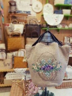 마르쉐의 여름 - 프랑스자수 코지코코 : 네이버 블로그 Silk Ribbon Embroidery, Hand Embroidery, Embroidery Designs, Japanese Bag, Embroidered Bag, Jute Bags, Patchwork Bags, Pencil Pouch, Handmade Bags