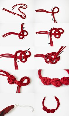 DIY Statementkette Knoten // DIY statement necklace with knots tutorial