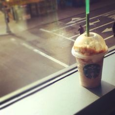 Frappucino in the mornings.