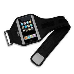 PDO Sporteer Armband for iPhone 4.    Tip: Many stores are just selling the M/L size so make sure you get the right size strap otherwise you will be doing bicep curls for months to get your arm big enough to fit :P