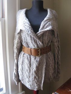Sale Tonight Only OOAK Hand knit Sweater Cardigan by LunaPortenia, $144.00