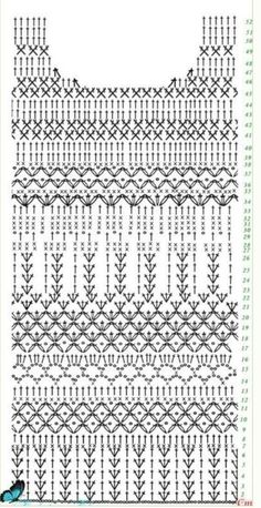 How to Crochet a Bodycon Dress/Top Gilet Crochet, Crochet Motifs, Crochet Diagram, Crochet Stitches Patterns, Crochet Blouse, Crochet Chart, Crochet Designs, Crochet Lace, Crochet Baby Dress Pattern