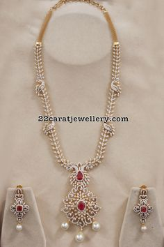Simple Diamond Long Chain - Jewellery Designs