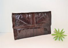 Vintage Eelskin Wine Clutch, Carry All