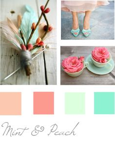 Mint and Peach Color Theme