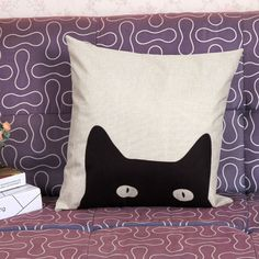 This exclusive cushion is a playful statement of the sneaky nature of our furry friends, with it's hidden cat, is sure to add that touch of fun to your catified home. Features: Removable and Washable