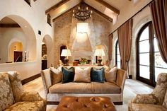 high-ceiling-living-room-beams - Home Decorating Trends - Homedit