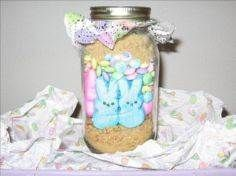 Make and share this Easter Bunny S'mores in a Jar recipe from Genius Kitchen. Hoppy Easter, Easter Gift, Easter Bunny, Jar Gifts, Food Gifts, Smores In A Jar Recipe, 30 Diy Christmas Gifts, Holiday Crafts, Christmas Decorations