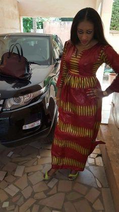 #Bazin #Malifashion Latest African Fashion Dresses, African Print Dresses, African Print Fashion, African Wear, African Women, African Dress, Fashion Prints, Ankara Fashion, African Prints