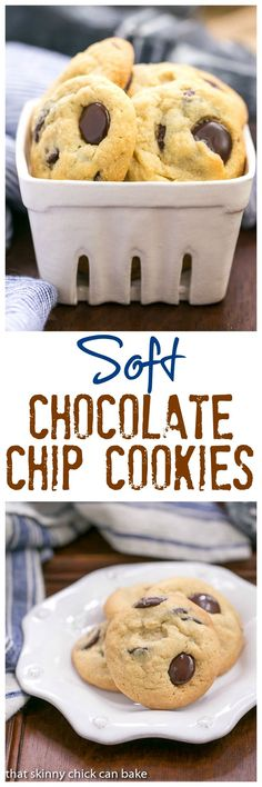 Soft Chocolate Chip Cookies | Soft, chewy with a secret ingredient! @lizzydo
