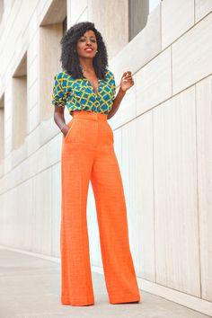 Stella Jean printed blouse and roshana wide leg pants