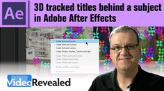The 3D Camera Tracker in After Effects can add a sense of realism to compositing new elements into a scene. This tutorial is part 2 of How to Put a Title Beh...