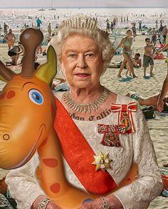 #bishadesign #popart #pinoamato #uk #italy #hermajesty #queen #beach #tattoo #londoncalling