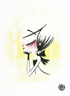 ADOLIE DAY ILLUSTRATIONS: Ink & watercolor via : http://adolieday.blogspot.fr