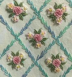 Wonderful Ribbon Embroidery Flowers by Hand Ideas. Enchanting Ribbon Embroidery Flowers by Hand Ideas. Brazilian Embroidery Stitches, Hand Embroidery Stitches, Silk Ribbon Embroidery, Hand Embroidery Designs, Embroidery Kits, Embroidery Techniques, Cross Stitch Embroidery, Machine Embroidery, Bullion Embroidery