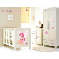 Tündérlány falmatrica #babaszoba #tündér #falmatrica #gyerek #gyerekszoba #faldekoráció #pink #kislány Bear Cartoon, Cribs, Toddler Bed, Pink, Furniture, Home Decor, Cots, Child Bed, Cartoon Bear