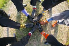 For grooms and groomsmen, it's all about the socks. @Laura Welch  couldn't you picture this but action figure socks???
