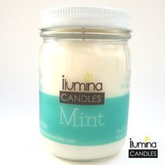 Candles mint soy wax, scented candle, interior decoration, aromatherapy,  fresh aroma candle de JUNandILUMINA en Etsy