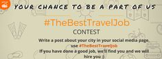 "Here's your chance to win your dream travel job! 1. Take part in an exciting contest by telling us what makes your city unique. Share with us any memorable moment in your beloved city.  2. Post your stories along with a photo of yours with the tag ‪#‎TheBestTravelJob‬ and tag goMowgli on your respective social media profile (Facebook, Twitter and Instagram)  3. Make sure you keep your privacy settings of your post to ""Public"".  4. We will find you and we will hire you.."