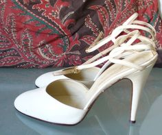 Vintage Made in Italy Garolini Ankle Strap Pumps Size 10US by EurotrashItaly on Etsy