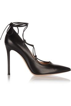 Gianvito Rossi Lace-up leather pumps | NET-A-PORTER