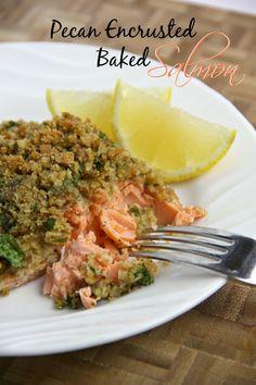 Adventures in all things food: Pecan Encrusted Baked Salmon
