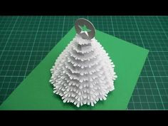 Christmas Tree Pop Up Card Tutorial - 02  (Part 2) - YouTube