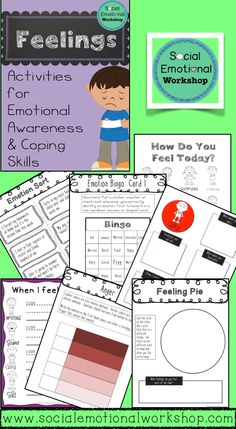 TPT: Activity pack for Feelings Identification and Awareness. Includes a Bingo Game, Strategy cards, feelings charts, and more.