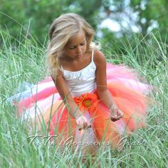 This look!! White tank with a blue and purple tutu. Just like the bridesmaids... but tutus!!