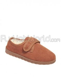 295a15fe490b54 Ladies Sheepskin Slippers with Velcro Closure