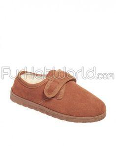 7f57c0adec5d Ladies Sheepskin Slippers with Velcro Closure