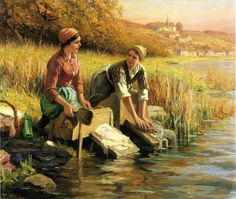 Image from http://4.bp.blogspot.com/-mcIHsgfukQs/TlHDn8DnlCI/AAAAAAAACc0/JlkYAgkB_aI/s1600/3159471_Knight_Daniel_Ridgway_Women_Washing_Clothes_by_a_Stream.jpg.